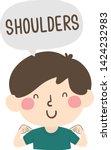 illustration of a kid boy... | Shutterstock .eps vector #1424232983