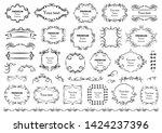 calligraphic design elements .... | Shutterstock .eps vector #1424237396