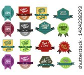 set of vector stickers and... | Shutterstock .eps vector #1424238293