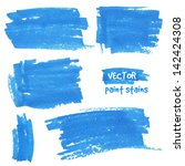 vector spot of paint drawn by... | Shutterstock .eps vector #142424308