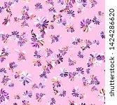 ditsy daisy print   seamless... | Shutterstock . vector #1424286620