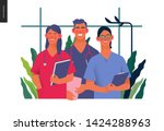medical insurance  internship... | Shutterstock .eps vector #1424288963