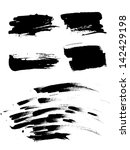 hand drawn ink brush strokes | Shutterstock .eps vector #142429198