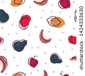 seamless pattern design with... | Shutterstock .eps vector #1424333630