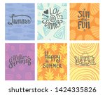 summer theme typography with... | Shutterstock .eps vector #1424335826