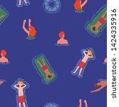 summer theme seamless pattern... | Shutterstock .eps vector #1424335916