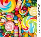 colorful candy | Shutterstock . vector #142437043