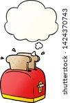 cartoon toaster with thought... | Shutterstock .eps vector #1424370743
