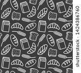 bakery background seamless...   Shutterstock . vector #1424386760