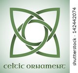 green celtic ornament with... | Shutterstock .eps vector #142442074