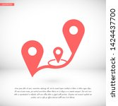 gps vector icon 10 eps   lorem... | Shutterstock .eps vector #1424437700