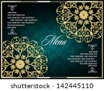 elegant vintage menu or wedding ... | Shutterstock .eps vector #142445110