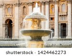 bernini fountain at st peters... | Shutterstock . vector #1424462273