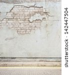 aged street wall background ... | Shutterstock . vector #142447504