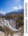 marsyandi river valley....   Shutterstock . vector #1424499500