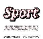 classic sporty font effect ... | Shutterstock .eps vector #1424504999