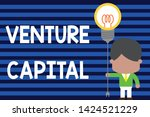 writing note showing venture... | Shutterstock . vector #1424521229