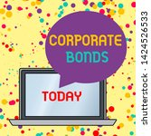 text sign showing corporate... | Shutterstock . vector #1424526533