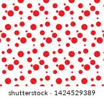 simple red dot pattern on a... | Shutterstock .eps vector #1424529389