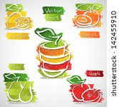 vector illustration of colorful ... | Shutterstock .eps vector #142455910