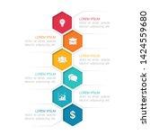 vector vertical infographic... | Shutterstock .eps vector #1424559680