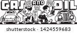 gas and oil 5   retro ad art... | Shutterstock .eps vector #1424559683