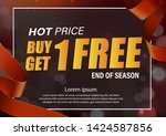 buy 1 get 1 free  sale tag ... | Shutterstock .eps vector #1424587856