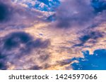 dramatic sky background.... | Shutterstock . vector #1424597066