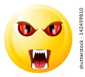 vampire smiley | Shutterstock .eps vector #142459810