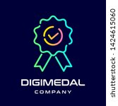 digital medal vector logo or...