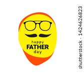 happy fathers day chinese man.... | Shutterstock .eps vector #1424626823