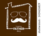 happy fathers day. vector... | Shutterstock .eps vector #1424626829