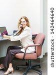 Businesswoman On Phone Talking...