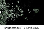 broken glass background... | Shutterstock . vector #142466833