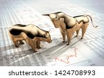 Bull And Bear On A Financial...