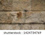 ancient wall texture. grunge... | Shutterstock . vector #1424734769