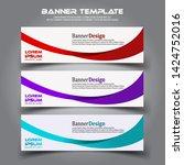 banner background.business... | Shutterstock .eps vector #1424752016