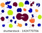hand drawn set of colorful ink... | Shutterstock .eps vector #1424770706