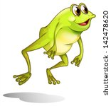 Illustration Of A Green Frog...
