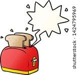 cartoon toaster toasting bread... | Shutterstock .eps vector #1424795969