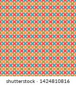 abstract retro pattern with...   Shutterstock . vector #1424810816