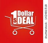 dollar deal poster with a... | Shutterstock .eps vector #142481518