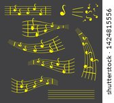 music notes  song  melody or... | Shutterstock .eps vector #1424815556