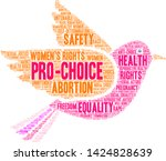 pro choice word cloud on a... | Shutterstock .eps vector #1424828639