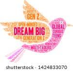 dream big generation z word...   Shutterstock .eps vector #1424833070