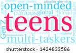 teens word cloud on a white...   Shutterstock .eps vector #1424833586