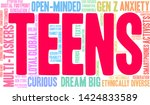 teens word cloud on a white...   Shutterstock .eps vector #1424833589