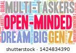 open minded generation z word...   Shutterstock .eps vector #1424834390