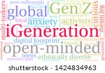 igeneration word cloud on a...   Shutterstock .eps vector #1424834963