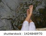 children feet playing in the...   Shutterstock . vector #1424848970
